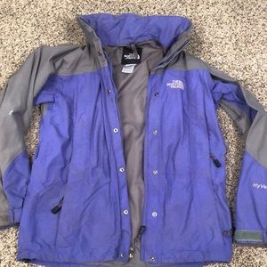 North face HyVent shell jacket